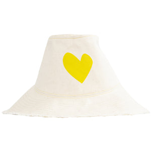 Sunny Daze Imperfect Heart Hat Natural - Sunshine