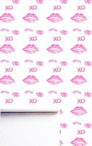 Kissy Winky Pop Pink Wallpaper