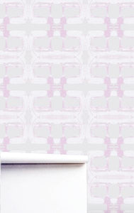 Block Washed Mauve Wallpaper