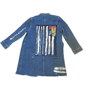 Believe Handpainted Denim Jacket