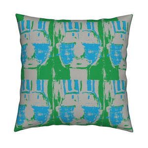 Bruno Azure Grass Pillow