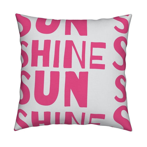 Sunshine Pop Pink Pillow