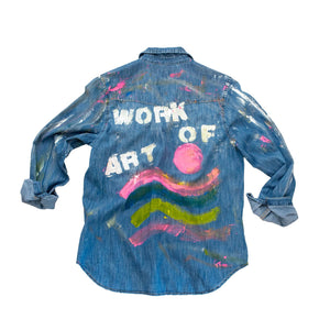 Work of Art No. 1 Denim by KR