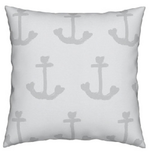 Ahoy Matey Gray Skies Pillow