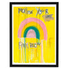 Follow Your Rainbow Yellow Art Print