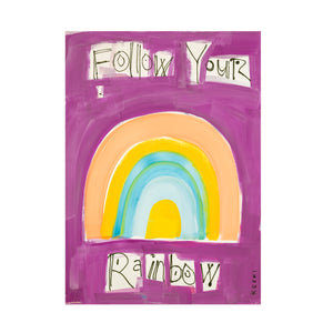 Follow Your Rainbow Violet Art Print