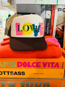 TRUCKER LOVE HANDPAINTED HAT 10