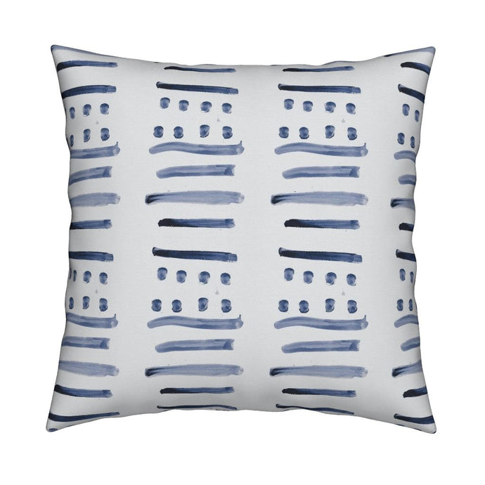 14 Layers Indoor-Outdoor Indigo Sale Pillow