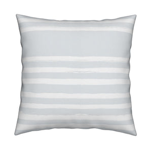 Stripe On Stripe Reverse Dove Pillow