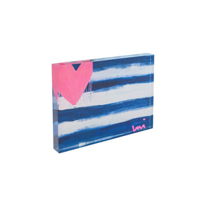Hearts + Stripes Forever Flag Block of Love