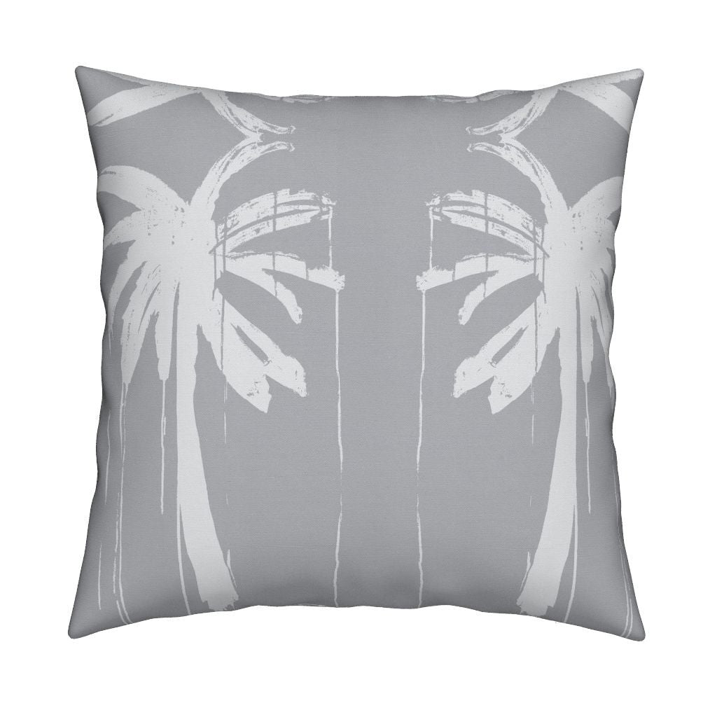 Palms Reverse Dove Pillow