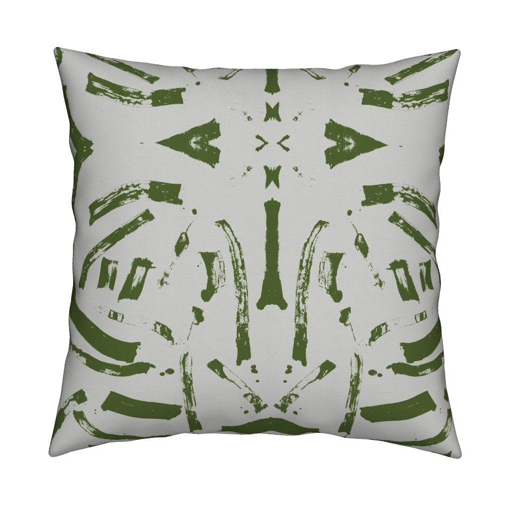 Tigre Olive Pillow