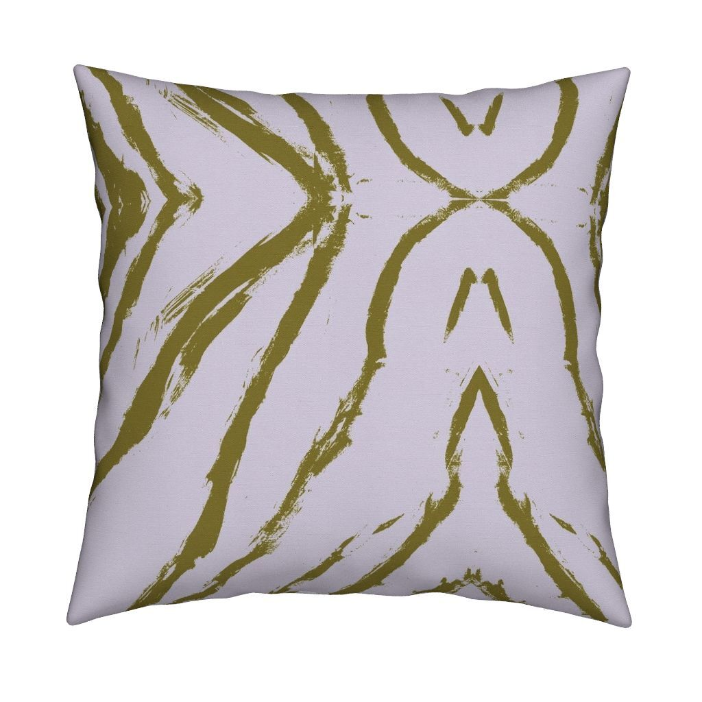 Seashells Lilac Citrine Pillow