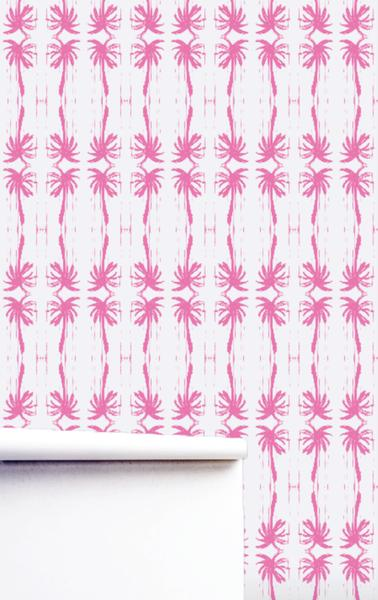 Palms Pop Pink Wallpaper