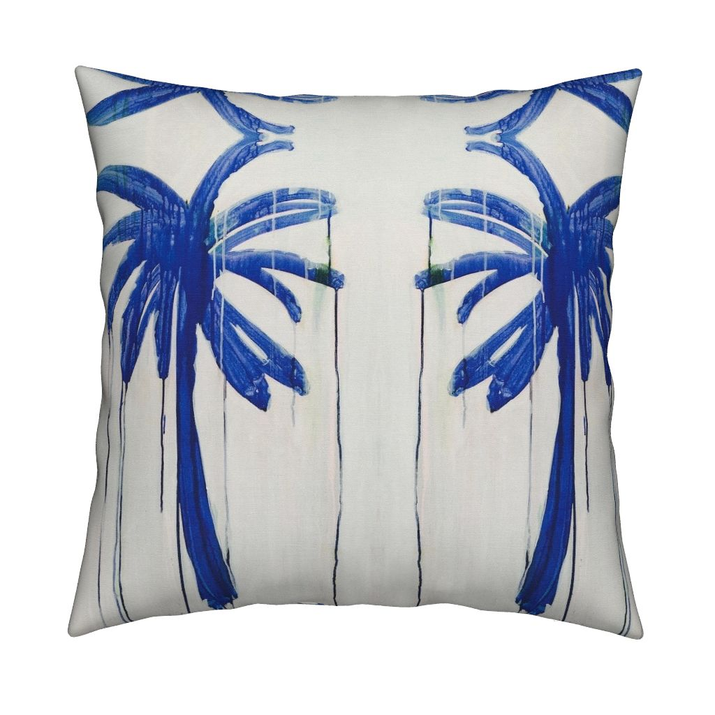 Palms Indigo Pillow