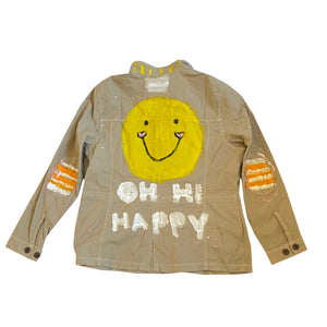 Orange Ya Glad Handpainted Denim Jacket