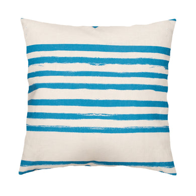 Stripe On Stripe Turq Pillow
