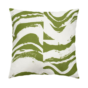 Island Block Olive Pillow