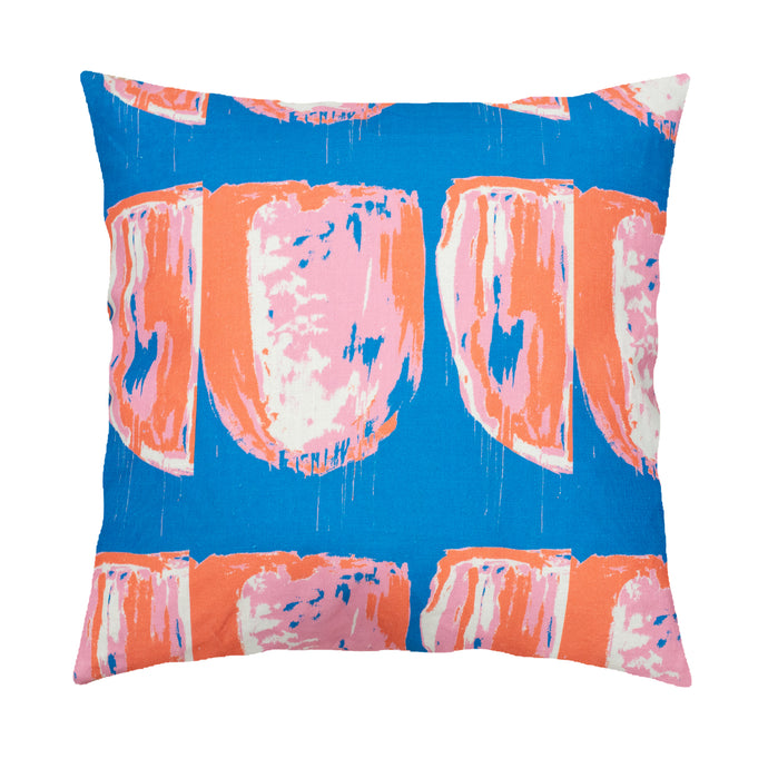 Tulips Nouveau Blush Clementine Reverse Pillow