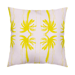 Palms Lilac Citrine Pillow