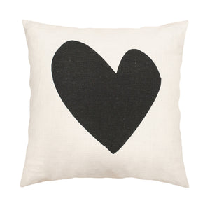 Imperfect Heart Pillow - Carbon