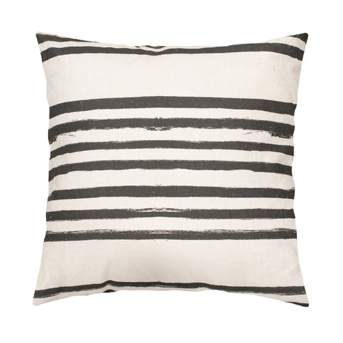 Stripe On Stripe Carbon Pillow