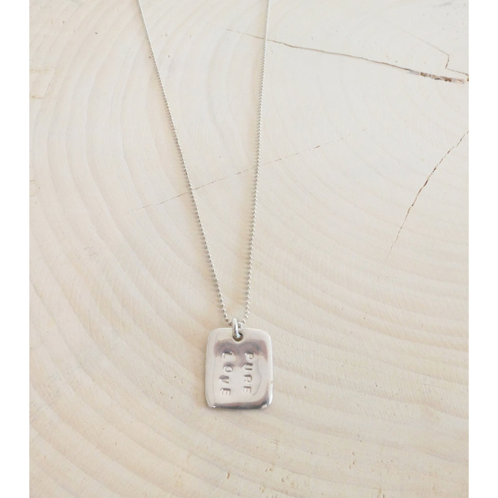 Pure Love Love Note Necklace - Sterling Silver
