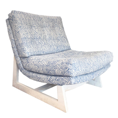 Jayney Dutch Blue Linen Romeo Chair