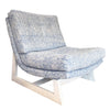 Romeo Chair in Jayney Dutch Blue Linen