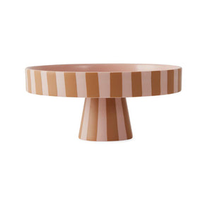 Stripe Cake Stand - Rose