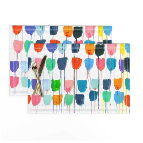 Drippy Tulips Placemats