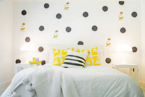 Dots Lemon Paperless Wallpaper (12 per pack)