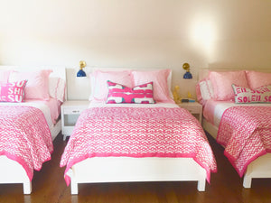 Nineteen Pop Pink Pillow