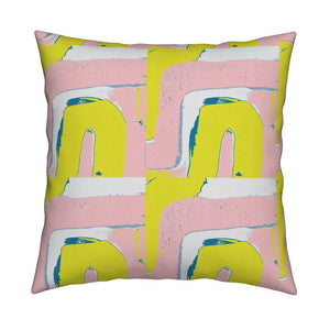Tuk Tuk Citrine Bubblegum Pillow