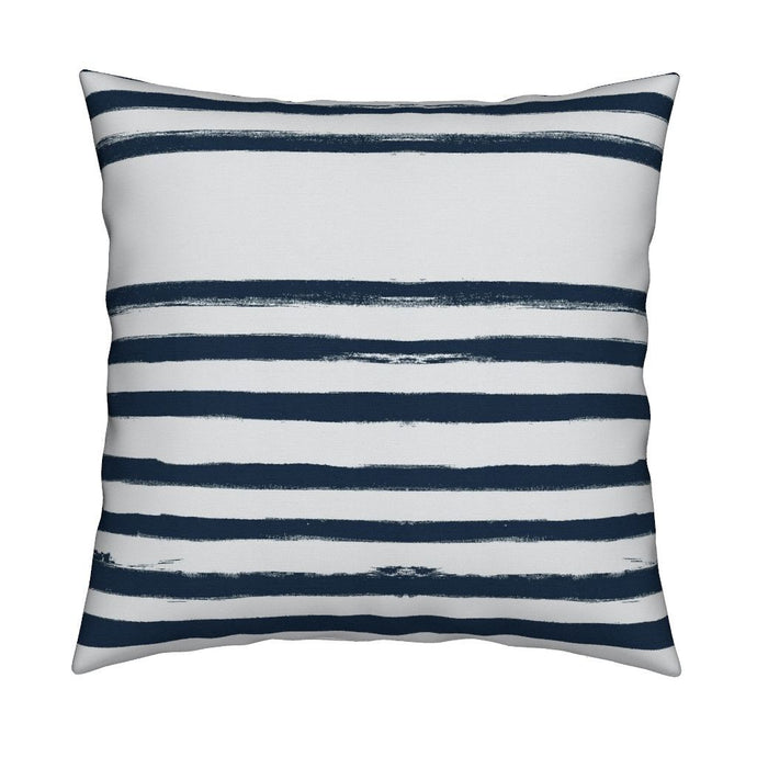 Stripe On Stripe Midnight Blue Lumbar Pillow - 2 in stock