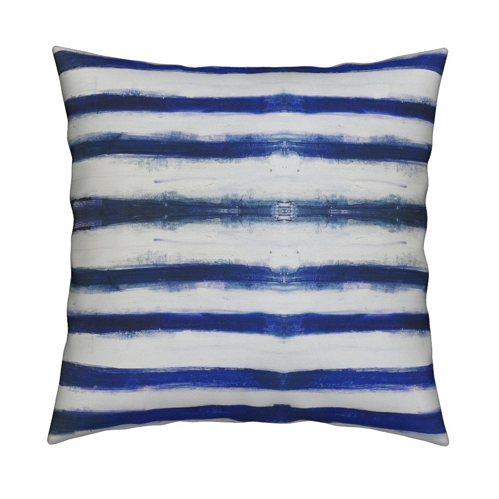 Ships Ahoy Indigo Pillow
