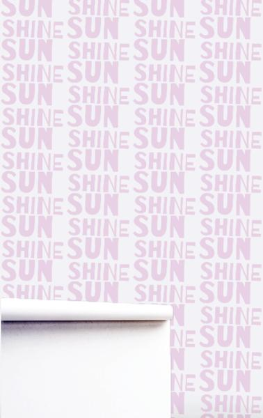Sunshine Mauve Wallpaper