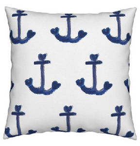 Ahoy Matey Blue Sea Pillow
