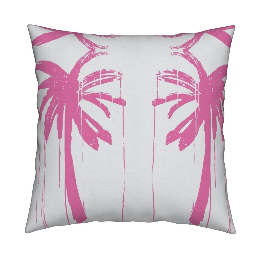 Palms Pop Pink Pillow