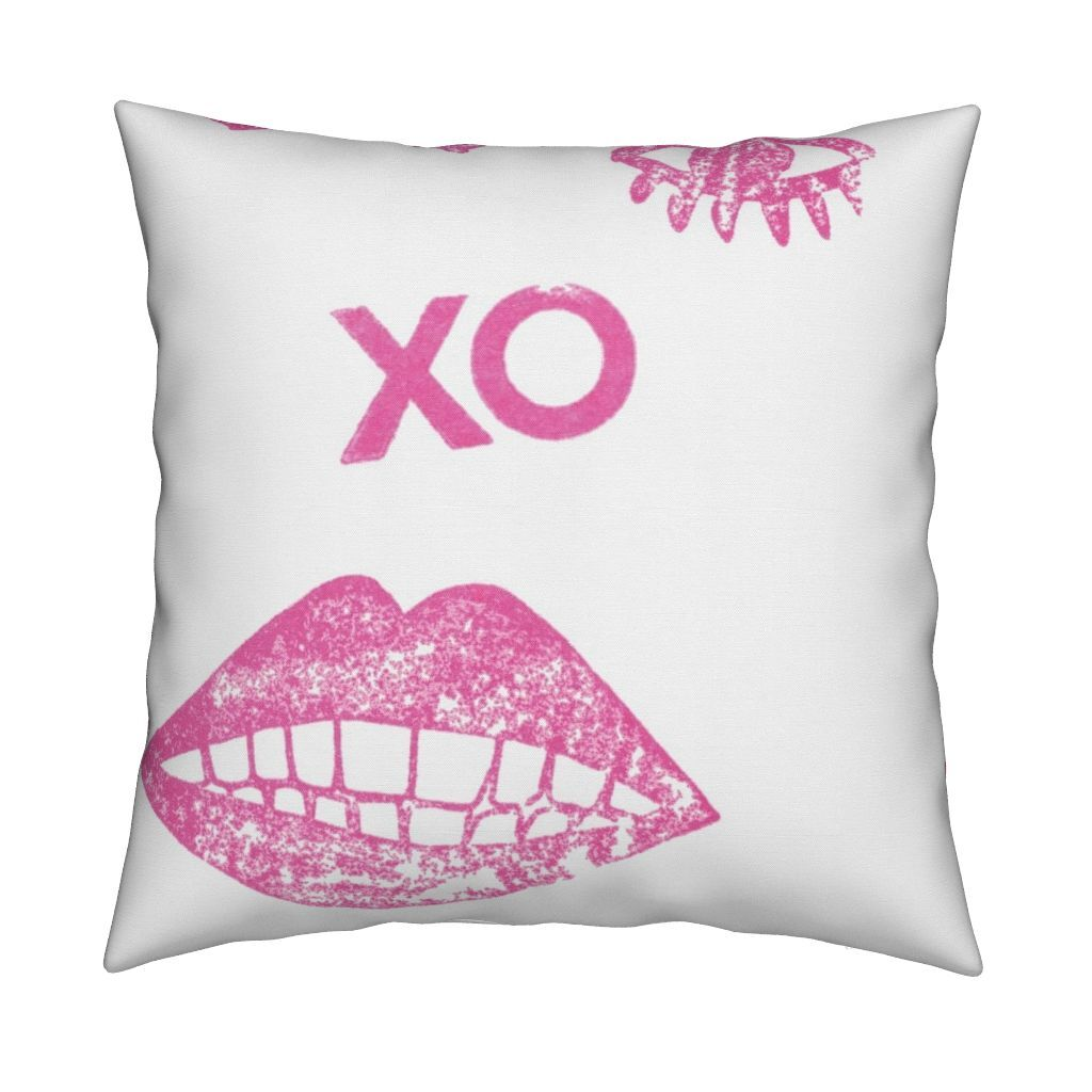 Kissy Winky Pop Pink Pillow