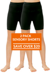 2 Pack Of CalmWear Sensory Shorts | Boys - SAVE OVER $20