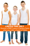 3 Pack Of CalmWear Sensory Vests | Boys - SAVE OVER $40 - PLUS 3 FREE SOCKS