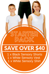 CalmWear Starter Pack 1 x Vest, 1 x Shirt, 1 x Shorts | Child - SAVE OVER $40 - PLUS 3 FREE SOCKS