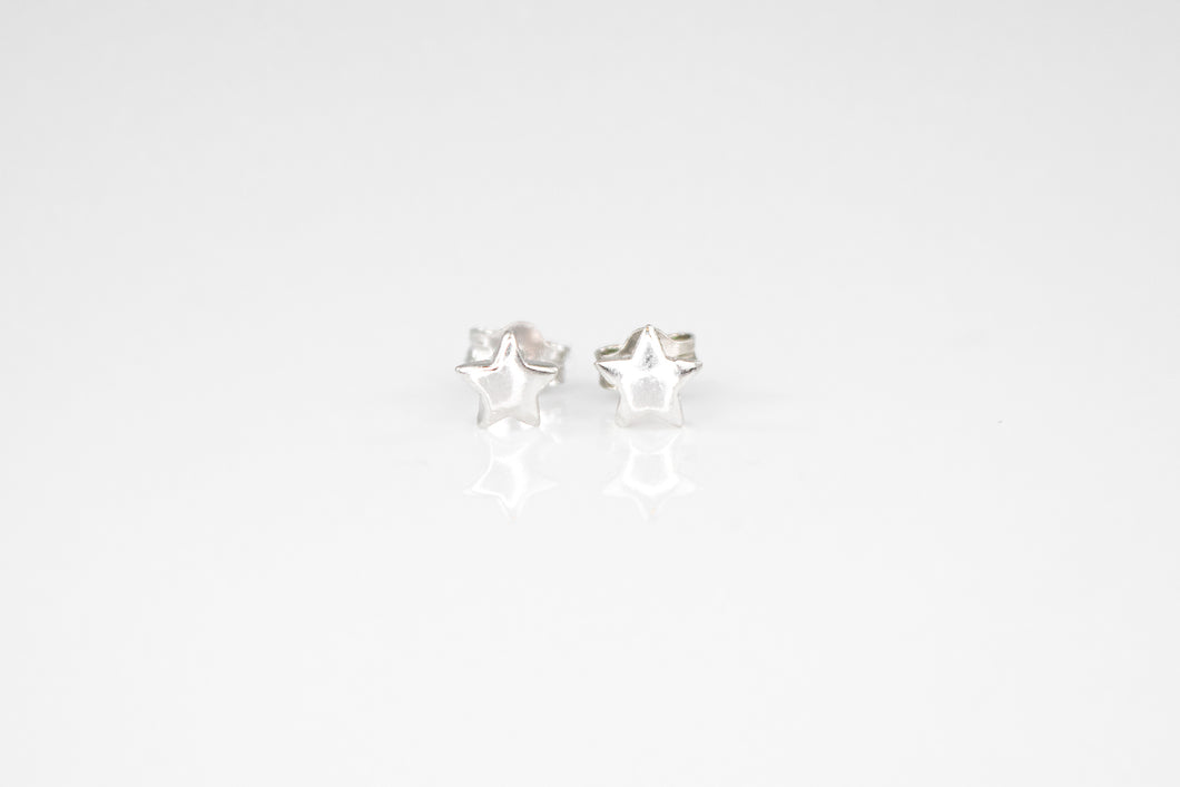 Rhodium Plated Star Studs