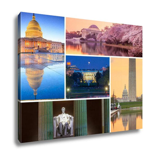 Washington D.C. Landmarks Collage, Canvas