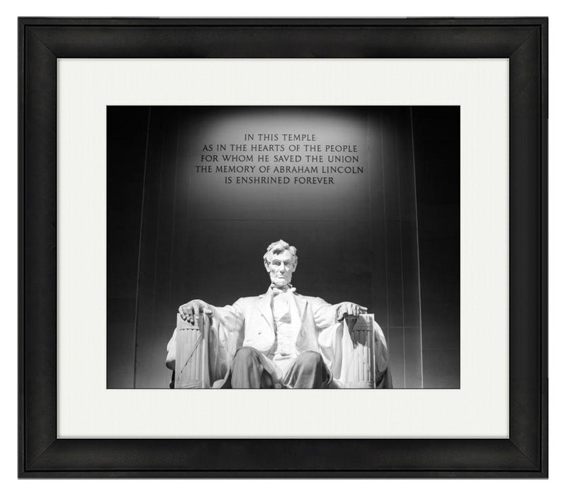 Abraham Lincoln Memorial, Temple Engraving - Patriotic Faith