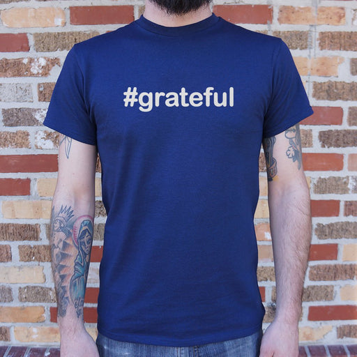 Mens Hashtag Grateful T-Shirt - Patriotic Faith