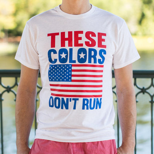 Mens These Colors Don't Run T-Shirt - Patriotic Faith