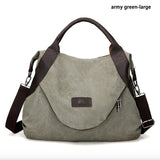 Brand Large Pocket Casual Women's Handbag Shoulder Crossbody Canvas Handbag