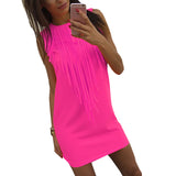 New 3 Color Summer Dress Sleeveless Evening Party Dress XL Plus Size Women Clothing